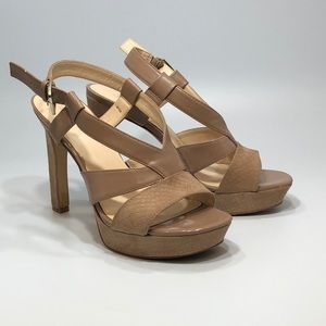 Nine West Women's Tan size 8.5 High heels